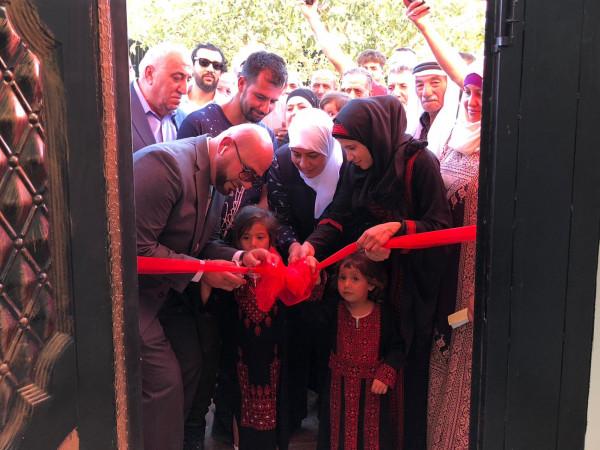 أريحا: صندوق الاغاثة الفلسطيني يسلم عائلة رشايدة منزلها الجديد
