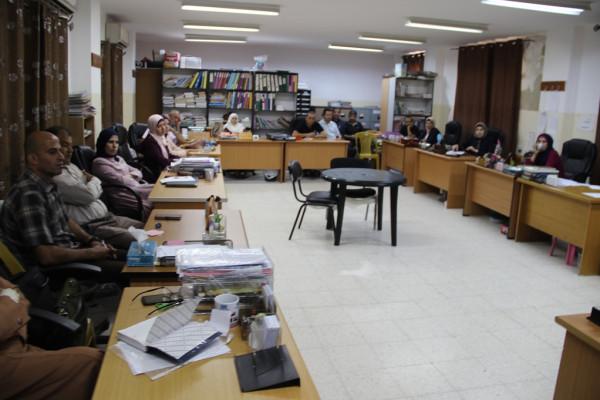 تربية قلقيلية تعقد اجتماعا لنقاش وتقييم برامج ومشاريع تربوية