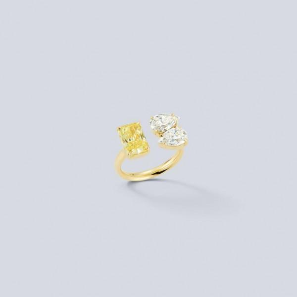خواتم زفاف من الماس الأصفر