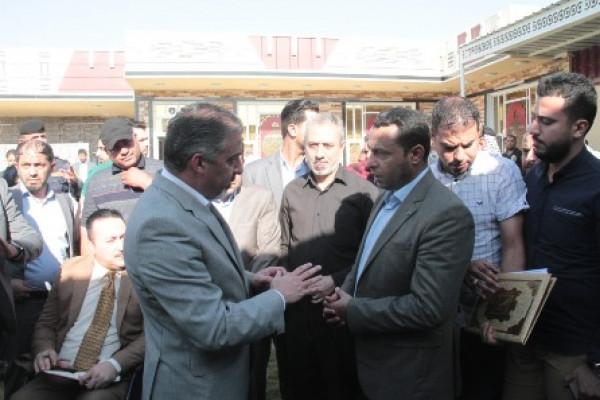 عبد الزمان برفقة نائبين بالبرلمان العراقي يتفقدون أحوال المواطنين
