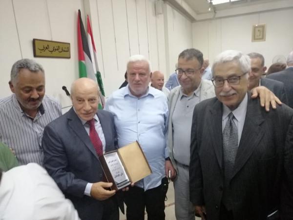 قاسم صالح في كلمة تكريم عضو المكتب السياسي للجبهة الديمقراطية علي فيصل