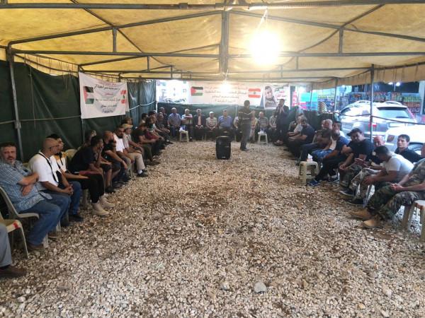 """المؤتمر الشعبي لفلسطينيي الخارج يشارك في """"خيمة الكرامة """" بمخيم البداوي"""