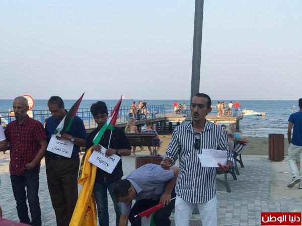اقليم حركة فتح في قبرص يقيم وقفة تضامنية مع اللاجئين الفلسطينيين بلبنان