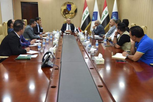 الرديني يلتقي رئيس واعضاء منظمة النور الجامعة