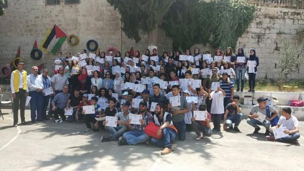 فتح في نابلس تخرج معسكر زياد أبو عين فلسطين لنا والقدس عاصمتنا