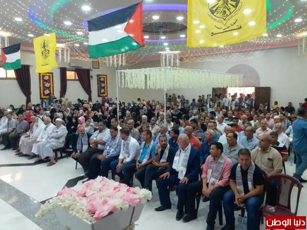 """منطقة الشهيد """"عارف حرز الله"""" تنظم حفل تكريم الطلبة ىالناجحين بالثانوية العامة"""