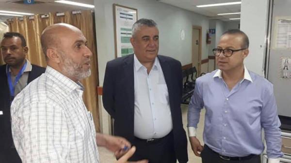 وفد وزاري يتفقد المستشفيات الحكومية في قطاع غزة أيام العيد