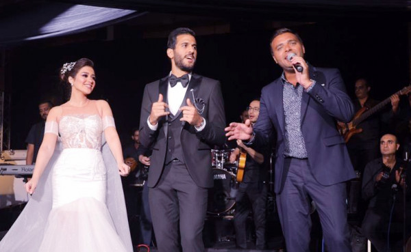 "رامي صبري يشعل زفاف مروان محسن بأغاني ""فارق معاك"""