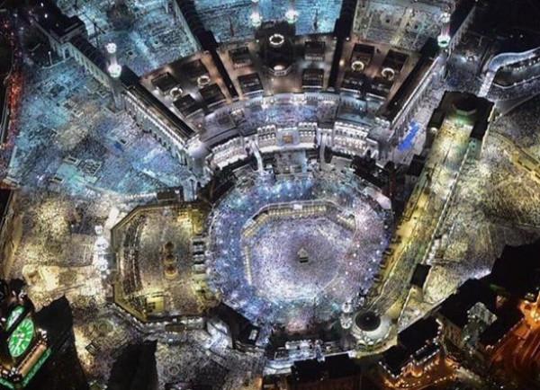 شاهد: صور لمشعر منى والمسجد الحرام أثناء الحج من الفضاء