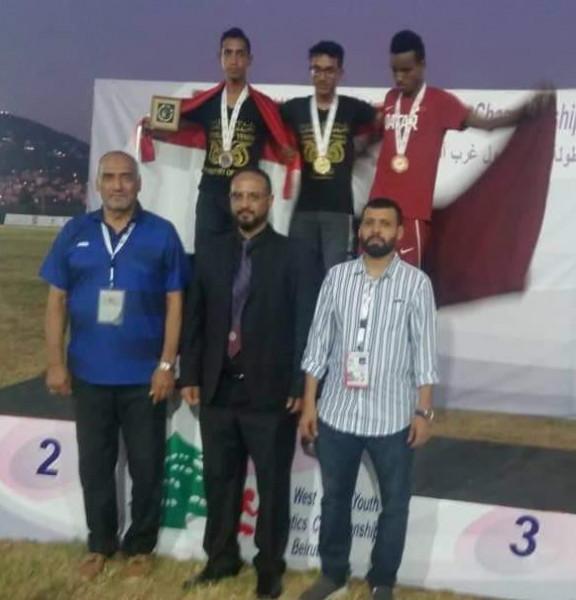 """""""ذهبية وفضية"""" لليمن في بطولة غرب آسيا لألعاب القوى في بيروت"""