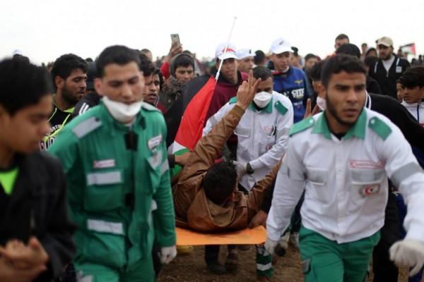 الضمير: للجمعة السبعون لمسيرات العودة وكسر الحصار قوات الاحتلال تصيب (65) مواطناً