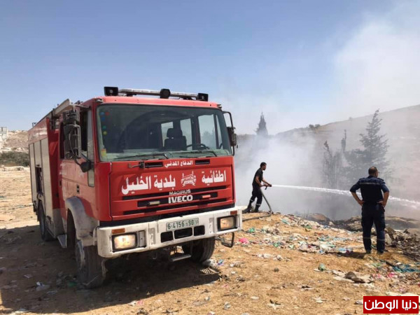 طواقم إطفائية بلدية الخليل تتعامل مع أكثر من (100)حريقاً خلال عيد الأضحى