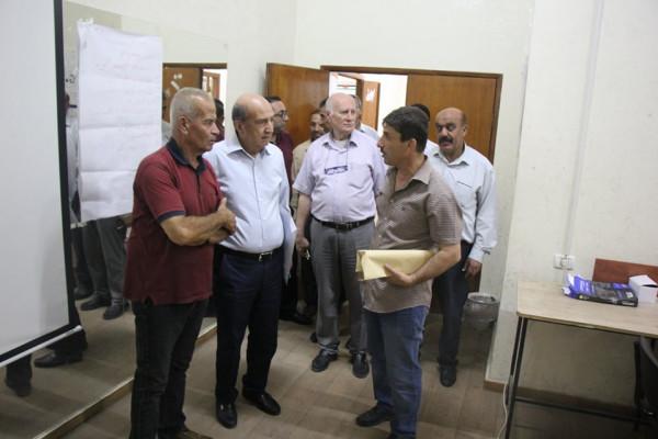 رجل الأعمال ناظم صبري في ضيافة نادي قلقيلية الأهلي