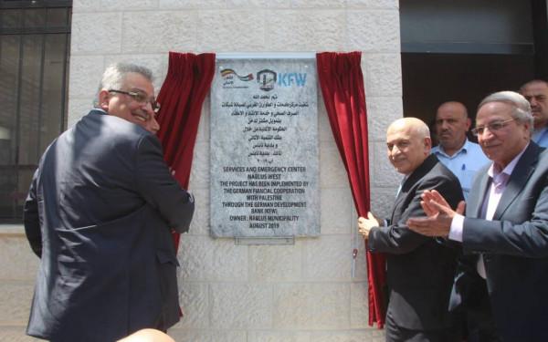 افتتاح مشروع شريان الحياة لتخليص نابلس من أزماتها المائية
