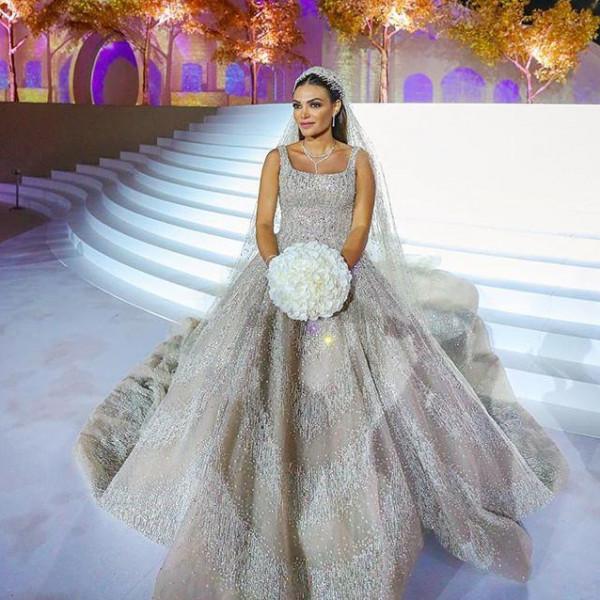 فساتين زفاف فخمة لعرائس لبنانيات