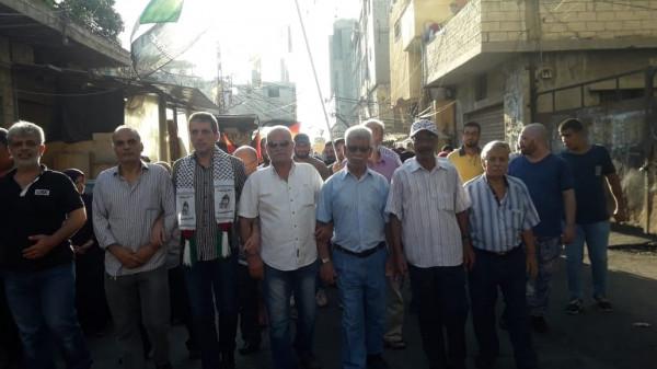 """الآلاف من أبناء شعبنا في عين الحلوة يُشاركون في مسيرة """"انتفضوا لكرامتنا"""""""