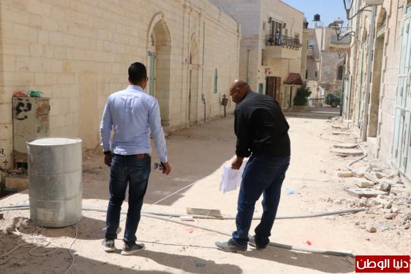 بلدية بيت لحم تواصل اعمال تأهيل شارع دلاسال والادراج المتفرعة