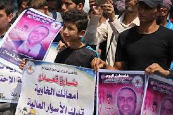 الأسير قعدان يدخل إضرابًا مفتوحًا عن الماء في سجون الاحتلال