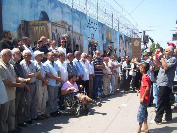 اعتصام جماهيري حاشد بعين الحلوة رفضا لقرار وزير العمل اللبناني