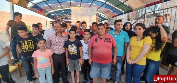 """اقامة مخيم الشهيد المقدسي نسيم مكافح ابو رومي """"الصيفي"""" في منطقة الاغوار"""