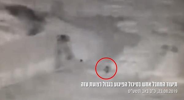شاهد: جيش الاحتلال ينشر فيديو لمحاولة تنفيذ عملية على حدود غزة