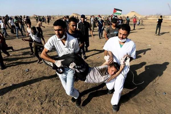 بجمعة (لبيك يا أقصى).. الصحة: 122 إصابة برصاص الاحتلال شرقي قطاع غزة