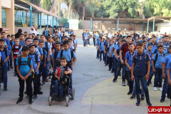 قلقيلية: افتتاح العام الدراسي من مدرسة ذكور الرازي الاساسية