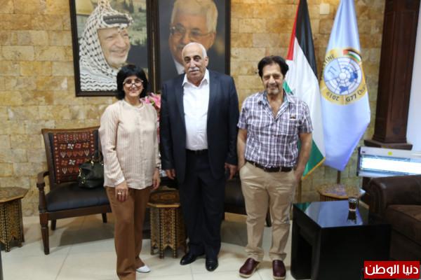 محافظ اريحا والأغوار يستقبل أبناء المرحوم اللواء الركن عمر علي