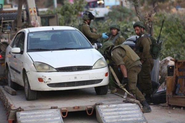 اعتقال شابين ومصادرة مركبة خلال اقتحام الاحتلال لقرية دير بزيع غرب رام الله