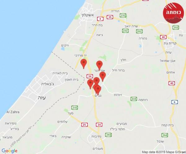 شاهد: 16 اصابة بالهلع بعد اطلاق صواريخ من غزة على مستوطنات الغلاف