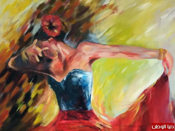 تشكيلية شيماء ميرات تقطف من قرص الشمس دفئها ومن لون الأزهار بشاشتها