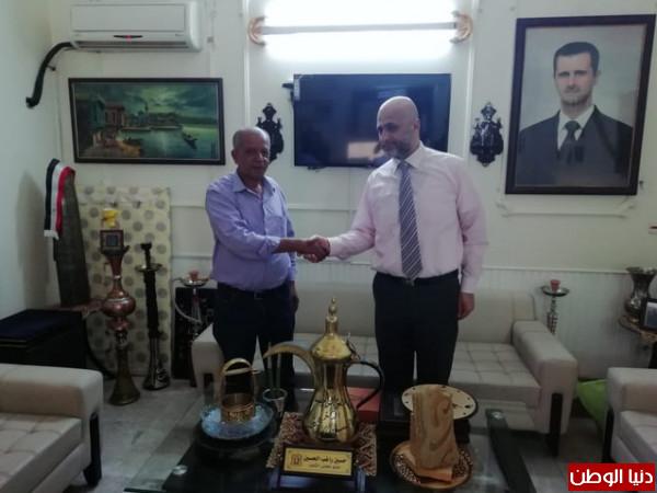 معتوق يكرم عضو مجلس الشعب السوري ويؤكد على وحدة المسار والمصير