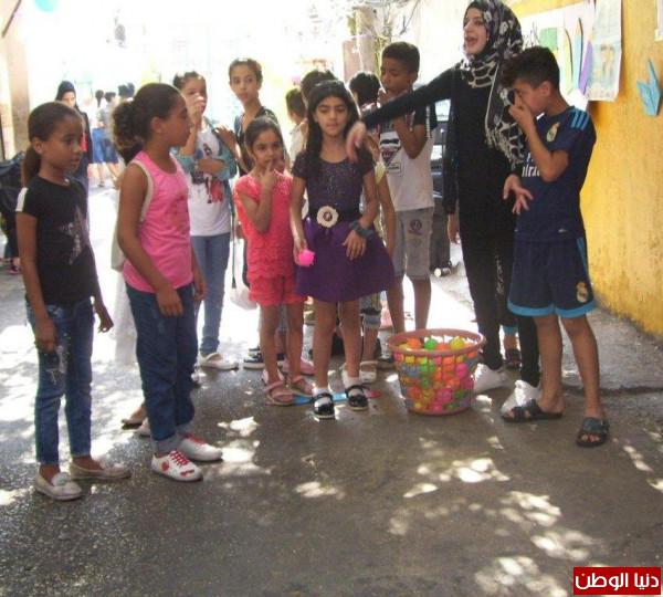 الاتحاد والتضامن ينظمان نشاطاَ ترفيهياَ للاطفال في عين الحلوة