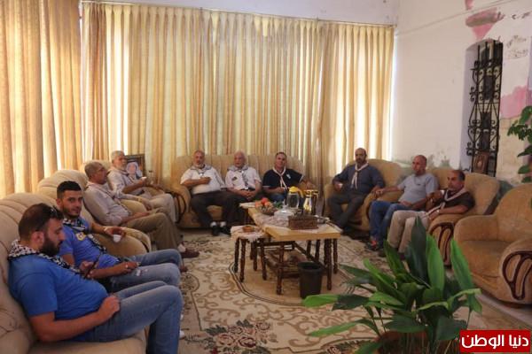 مفوضية الخليل تستقبل وفدا من مجموعة كشافة نادي شباب ابو ديس