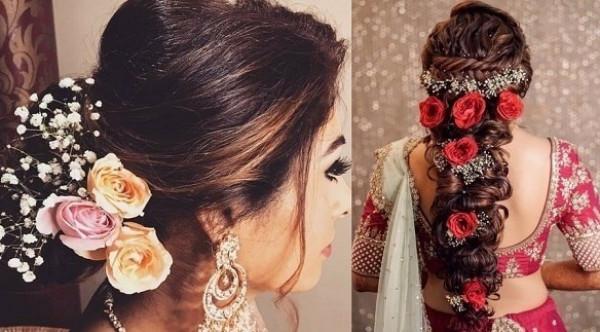 5 تسريحات عرائس بالأزهار لزفاف مميز