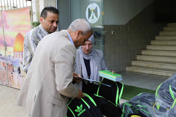 قلقيلية: مكرمة رئاسية للمحافظة حقائب مدرسية وقرطاسية