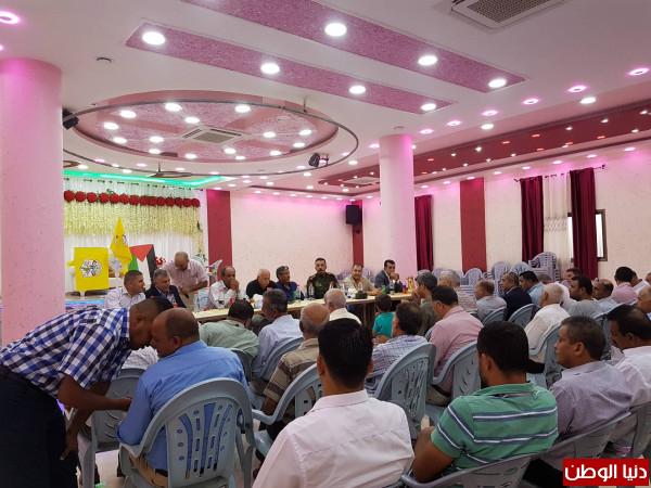 """فتح إقليم """"سلفيت""""تعقد لقاء مجتمعياً حول """"السلم الأهلي وتسريب الأراضي"""" في رافات"""
