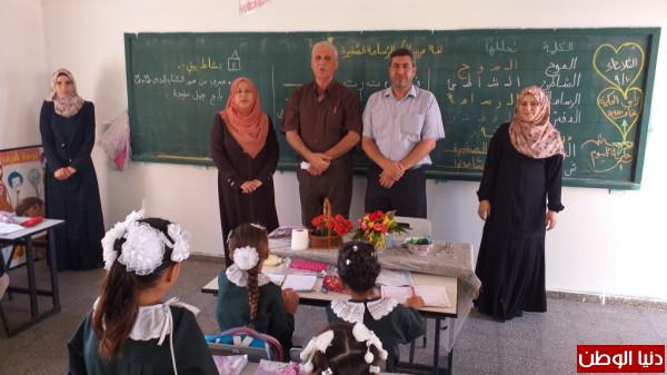 مدير تعليم الشمال يتفقد سير العملية التعليمية في عدد من المدارس