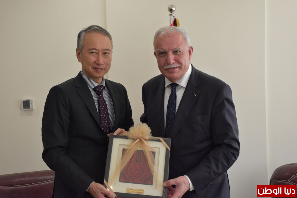 المالكي يُودع رئيس مكتب تمثيل اليابان بمناسبة انتهاء مهامه الرسمية بفلسطين