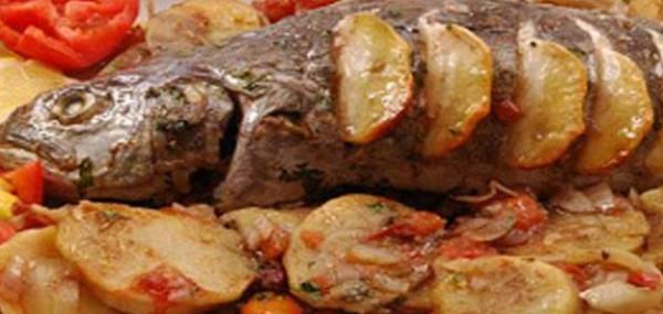 صينية السمك مع البطاطس