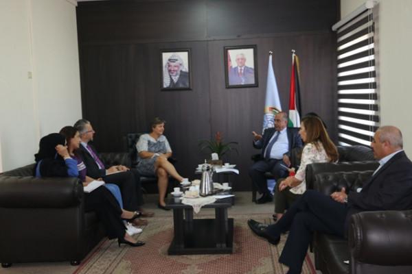 د.الشلالدة يبحث مع ممثل برنامج الأمم المتحدة الإنمائي تعزيز التعاون المشترك