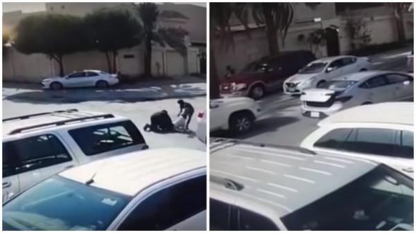 كاميرا مراقبة توثق جريمة مروعة في السعودية