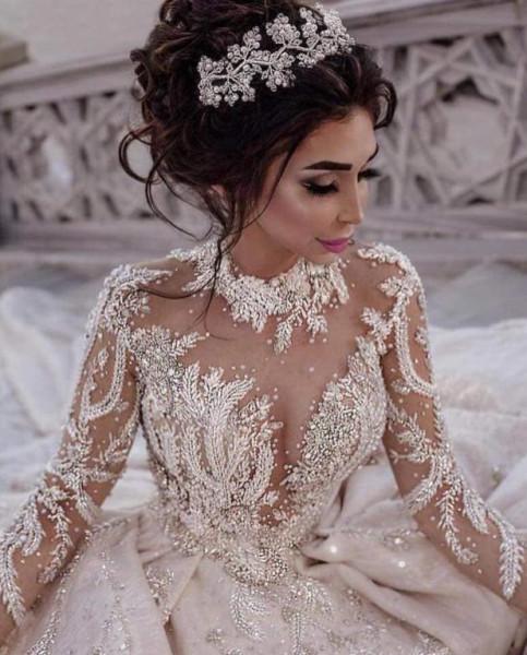 فساتين أعراس فخمة لإطلالة كالسندريلا