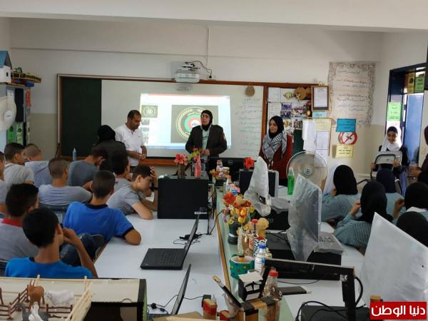 لجان الشبيبة الثانوية في قلقيلية تنظم محاضرة للتعريف بالأمن الوطني ومهامه