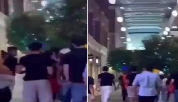 """شاهد: شبان يتحرشون بفتيات داخل مجمع تجاري بـ""""الكويت"""""""