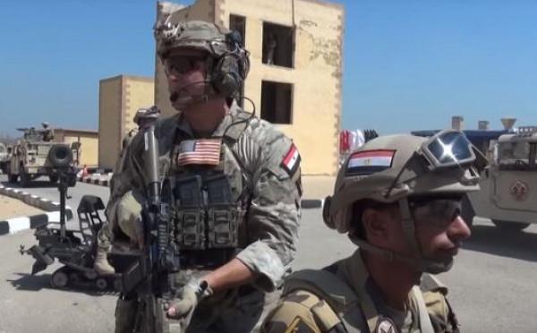 """شاهد: تدريب عسكري مصري أمريكي لـ """"مكافحة الإرهاب"""""""