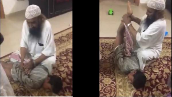 """فيديو """"مُعنف ابن طليقته"""" يثير الغضب في السعودية"""