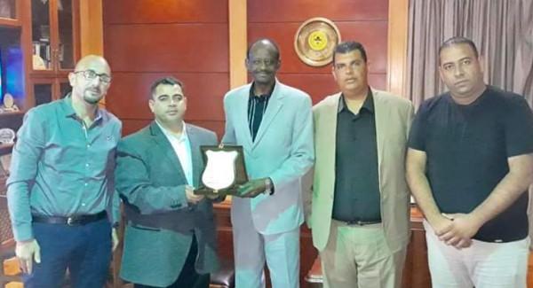 هنية يكرمُ الأمين العام للكشافة العربية ويلتقي وكيل وزارة الشباب والرياضة المصرية