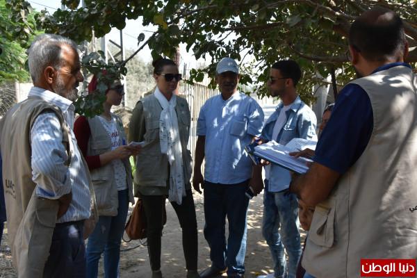 العمل الزراعي والمساعدات الشعبية النرويجية ينفذان جولة ميدانية في محافظة شمال غزة