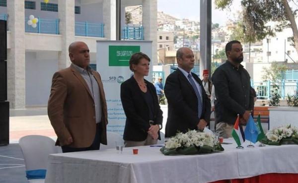 افتتاح مدرسة ذكور جنين الابتدائية بدعم سعودي